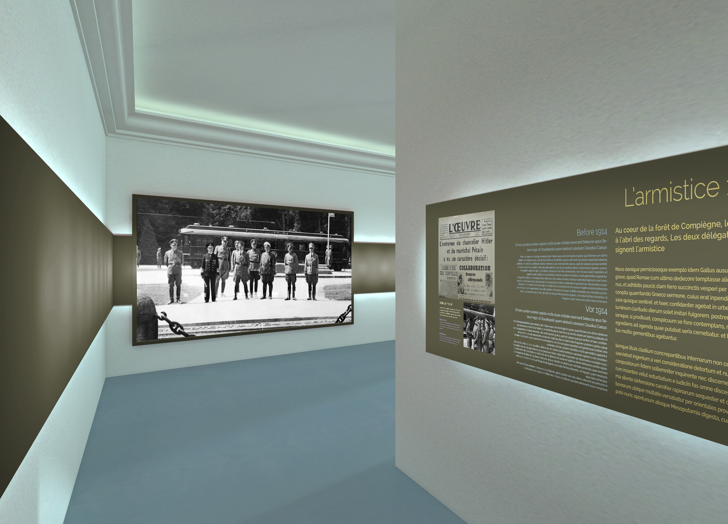 la-salle-armistice-1940-scénographie